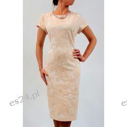"Seksowna sukienka ""Mona"" beż 46 Sukienki mini"