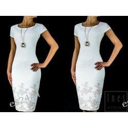 Elegancka sukienka Sonia ecru 42
