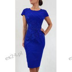Elegancka sukienka Daria szafir 44