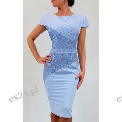 Elegancka sukienka Daria błękit 44 Sukienki wieczorowe