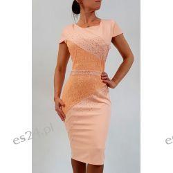 Elegancka sukienka Daria morela 50 Sukienki wieczorowe