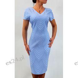Elegancka sukienka Ewa błękit 46 Sukienki wieczorowe