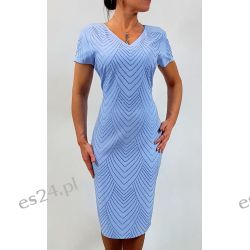 Elegancka sukienka Ewa błękit 46