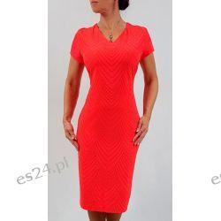Elegancka sukienka Ewa koral 48