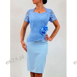Elegancka sukienka Ariadna błękit 44 Sukienki wieczorowe