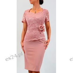 Elegancka sukienka Ariadna brudny róż 44 Sukienki wieczorowe