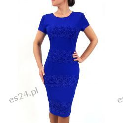 Elegancka sukienka weronika szafir 42 Sukienki wieczorowe