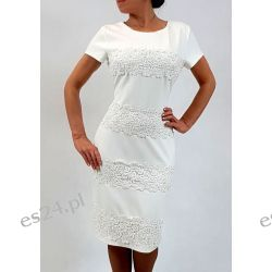Elegancka sukienka weronika ecru 44