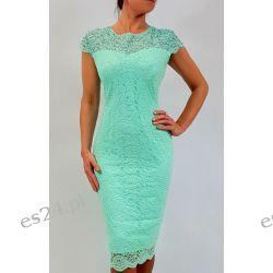 Elegancka sukienka Greta mięta 44 Sukienki mini
