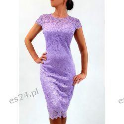 Elegancka sukienka Greta fiolet 46 Sukienki wieczorowe