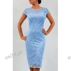 Elegancka sukienka Greta błękit 44 Sukienki wieczorowe
