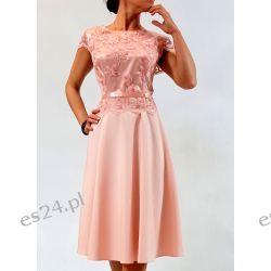 Elegancka sukienka Amanda róż 48