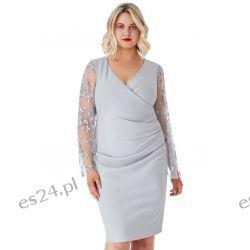 Elegancka szara sukienka 44 Odzież, Obuwie, Dodatki