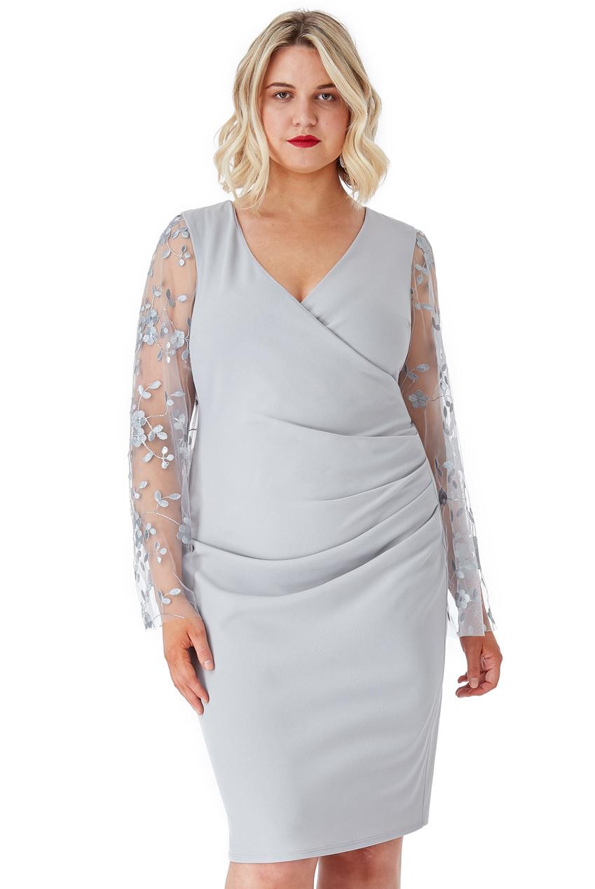 5ebe03d487 Elegancka szara sukienka 52 na Bazarek.pl