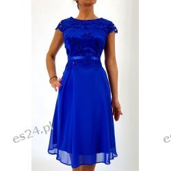 Elegancka sukienka Amanda szafir 48