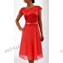 Elegancka sukienka Amanda koral 44