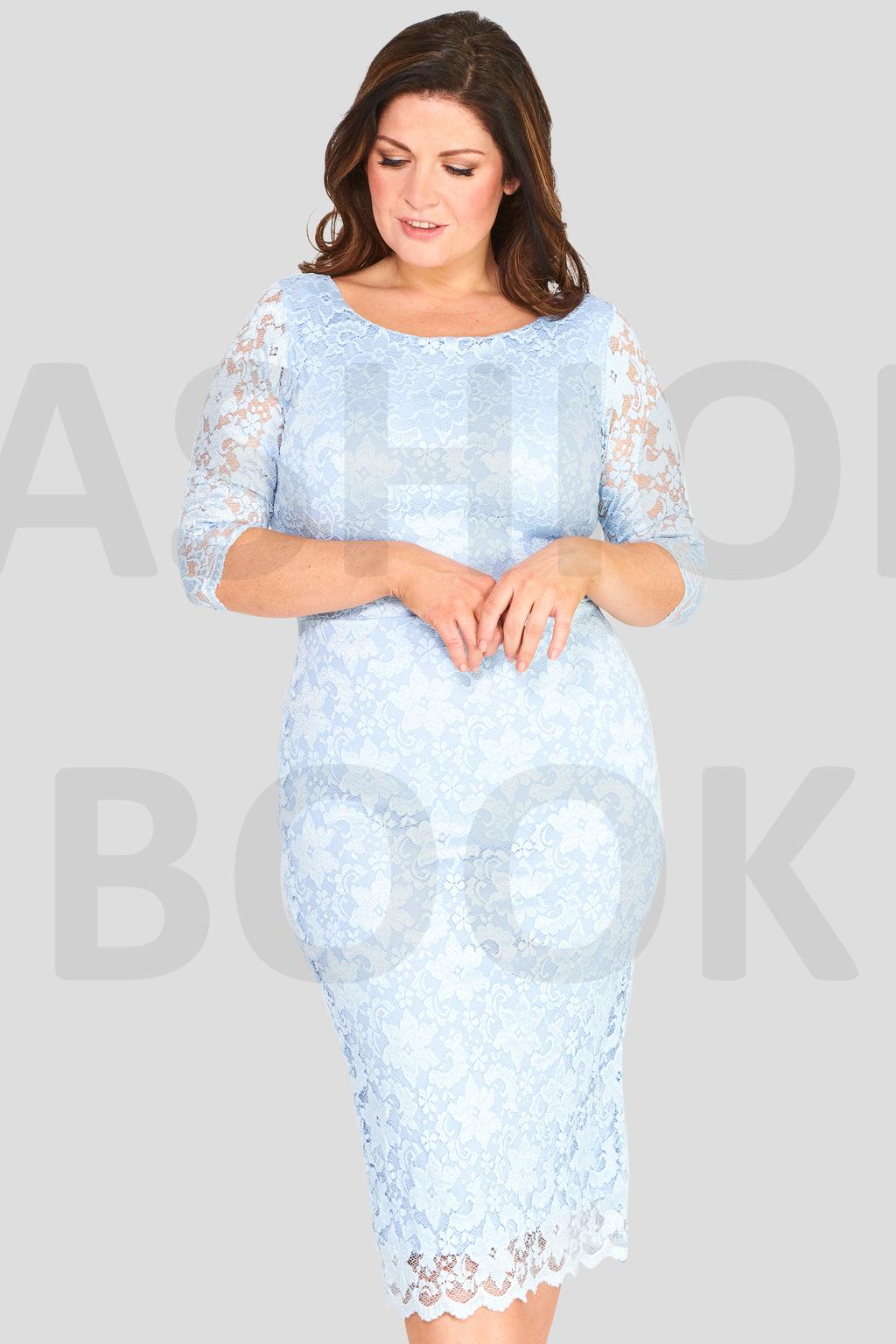 64051963cf Seksowna sukienka z koronki błękitna 44 na Bazarek.pl