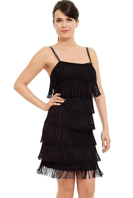 e97710ac21 Śliczna sukienka z frędzlami czarna S na Bazarek.pl