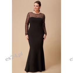 Zjawiskowa sukienka czarno-złota 52