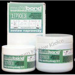 """Multibond 1703 (dawne oznaczenie 17P) dwuskładnikowa pasta epoksydowa typu: """"ceramik"""" w kolorze srebrzysto-szarym, mieszana 3:1 objętościowo, o średnim czasie wiązania. Pozostałe"""