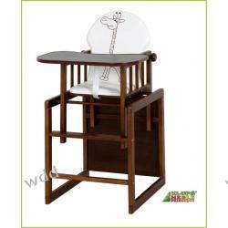 Krzesełko drewniane Klupś Agnieszka III safari orzech