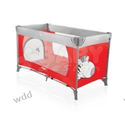 Łóżeczko turystyczne Baby Design Simple czerwone 02