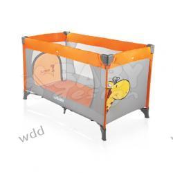 Łóżeczko turystyczne Baby Design Simple pomarańczowe 01