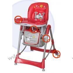 Krzesełko Coneco Fabula czerwone 02