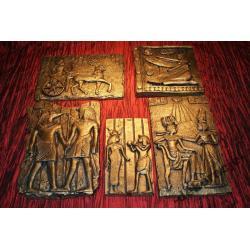 DEKORACJA - KOMPLET PŁASKORZEŹB EGIPSKICH - HIT