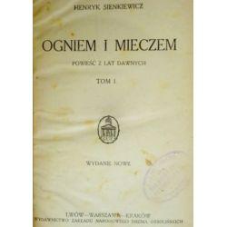 Ogniem i mieczem tom 1 Sienkiewicz ok. 1920r