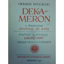 DEKAMERON z drzeworytami Bocciaccio 1948r Literatura piękna, popularna i faktu