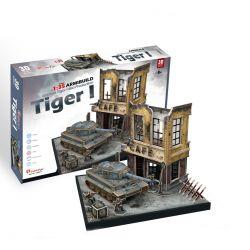 Puzzle piankowe 3D Czołg TIGER I ruiny GRY TYCHY