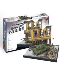 Puzzle piankowe 3D Czołg SOVIET ruiny GRY TYCHY
