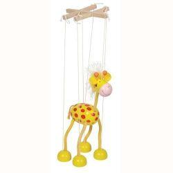 Marionetka ŻYRAFA żyrafka drewniana Goki TYCHY Lalki z bajek