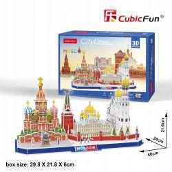 MOSWA City Line Puzzle piankowe 3D CubicFun Dla Dzieci