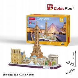 Puzzle 3D CubicFun PARYŻ PARIS Cityline 114el Pozostałe