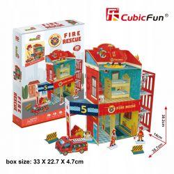 Puzzle 3D CubicFun STRAŻ POŻARNA REMIZA 89el Pozostałe