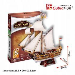 Puzzle 3D CubicFun JACHT MARY 83el