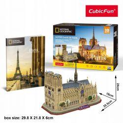 Puzzle 3D CubicFun NOTRE DAME katedra 128el Pozostałe