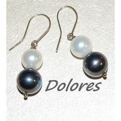 Srebrne kolczyki z perłami Majorka Bransoletki