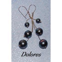Srebrne kolczyki z perłami Majorka na wężykach