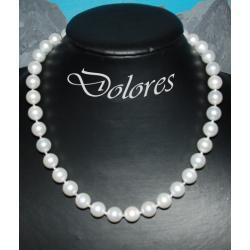 Naszyjnik - naturalna perła morska - średnica: 1,2 cm
