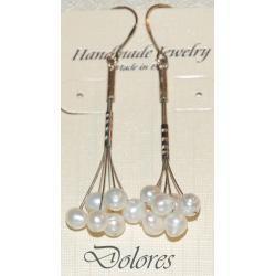Srebrne kolczyki z perłami słodkowodnymi Naszyjniki