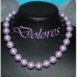 Naszyjnik z fioletowych pereł Majorka