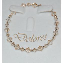 Srebrna bransoletka z kryształkami Swarovskiego Golden Shadow