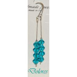 Srebrne kolczyki z kryształkami Swarovskiego blue zircon