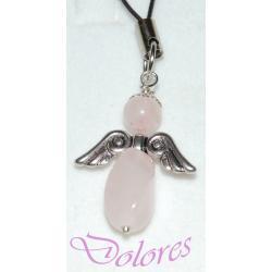 Aniołek z kwarcu różowego - na miłość i młodość Na rękę