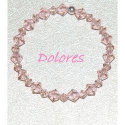 Bransoletka z różowych kryształków Swarovskiego