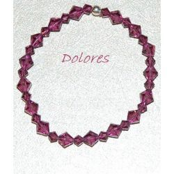 Fioletowa bransoletka z kryształków Swarovskiego