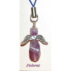 Ametystowy aniołek ze skrzydełkami z serduszkiem - mądrość i bogactwo